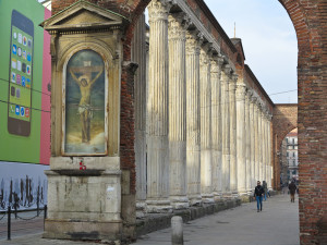 Roman columns, San Lorenzo, Milan, December 2013