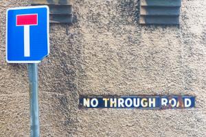 Road sign, Cromer, 140425