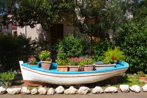 Flower boat, Kardamili, May 2014