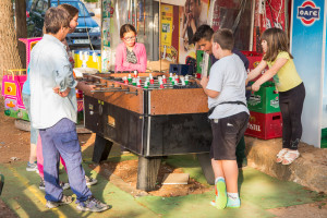 Table football, The Platia,Kardamili, May 2014
